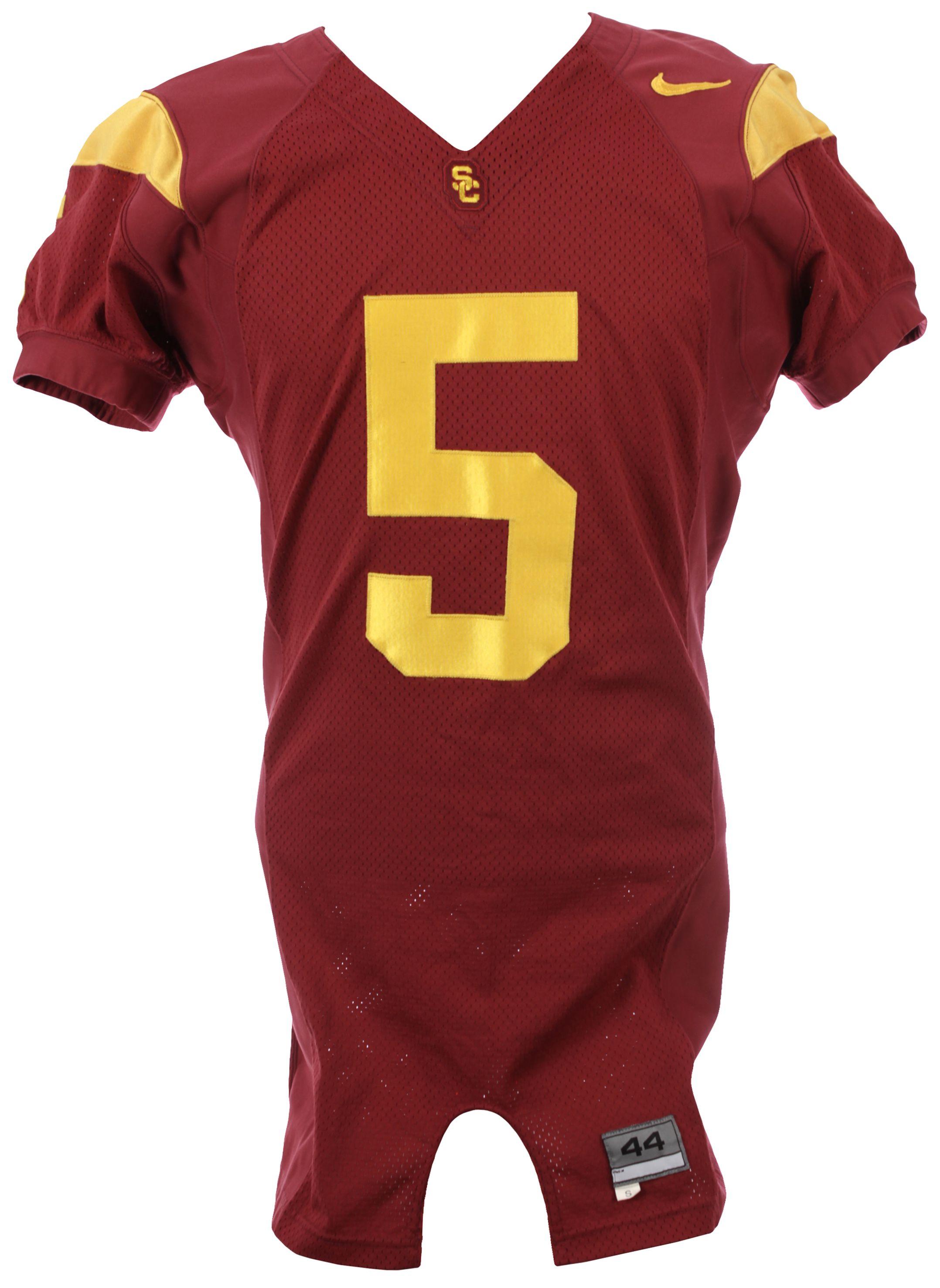 Lot Detail - 2005 Reggie Bush USC Trojans Game Worn Home Jersey ...