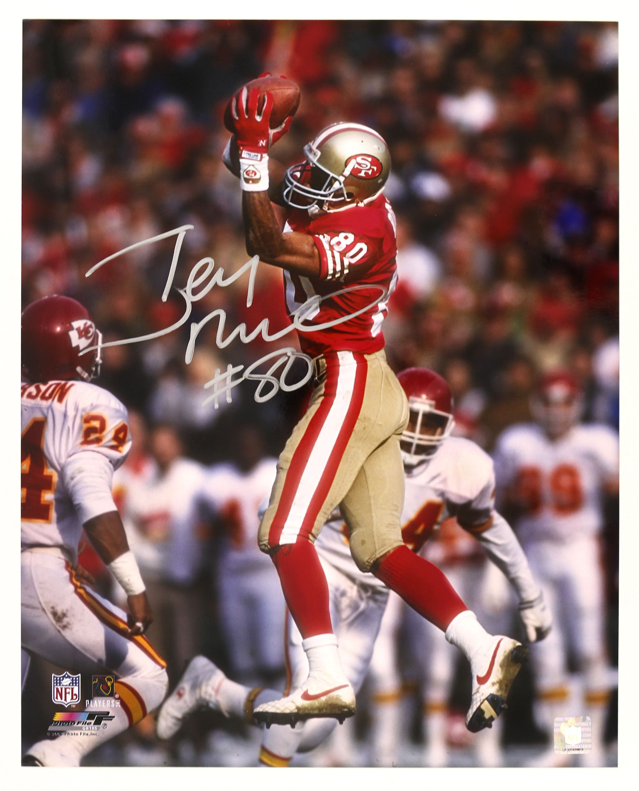 Lot Detail 2000 S Jerry Rice San Francisco 49ers Signed 16 X 20 Photo Jsa