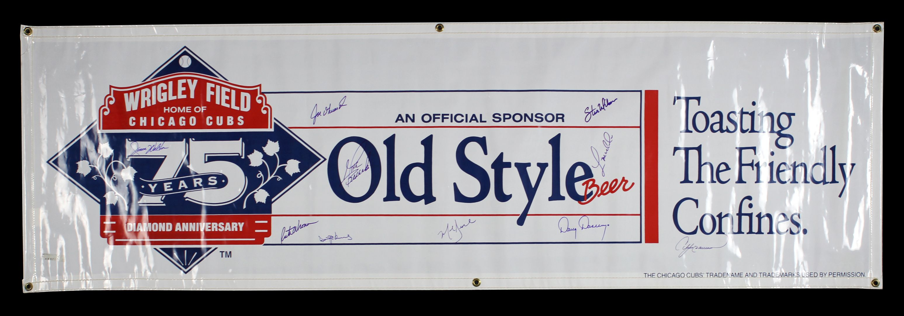 Lot Detail 1989 Chicago Cubs Signed Wrigley Field 75th