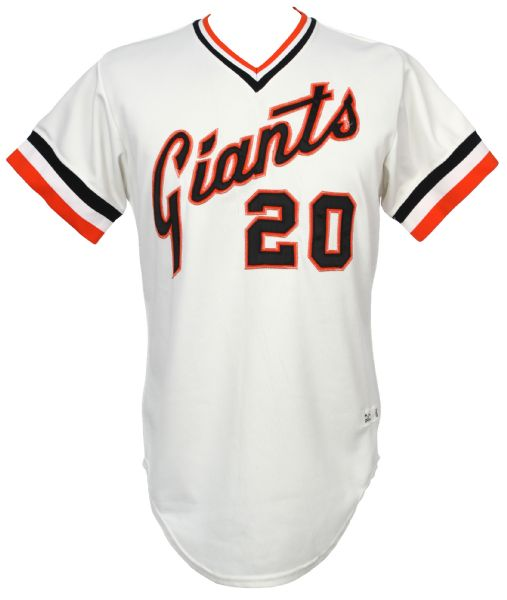 1981 Frank Robinson San Francisco Giants Manager Game Worn Home Jersey (MEARS LOA)