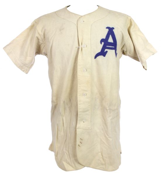 1950s Flannel Game Worn Baseball Uniform (MEARS LOA)