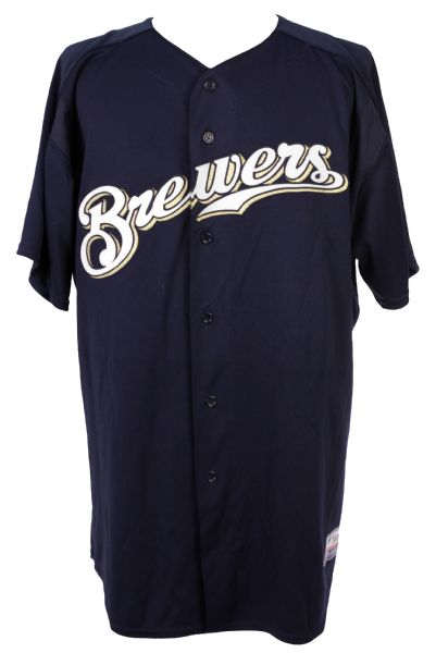 2006 Brian Dallimore Milwaukee Brewers Spring Training Jersey (MEARS LOA)