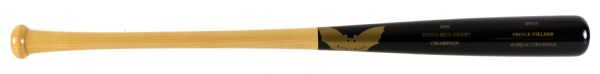 2009 Prince Fielder Milwaukee Brewers Home Run Derby Champion Sam Bat & MIB Home Run Derby Gold Baseball