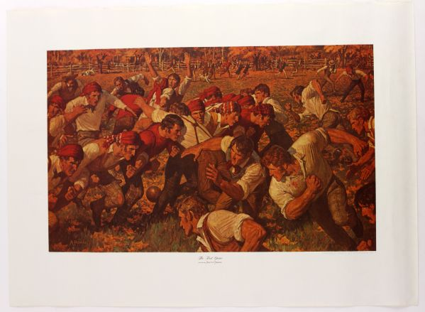 "1969 History of College Football Chevrolet Sports Art Arnold Friberg 22"" x 30"" Canvas Print Collection - Lot of 4"