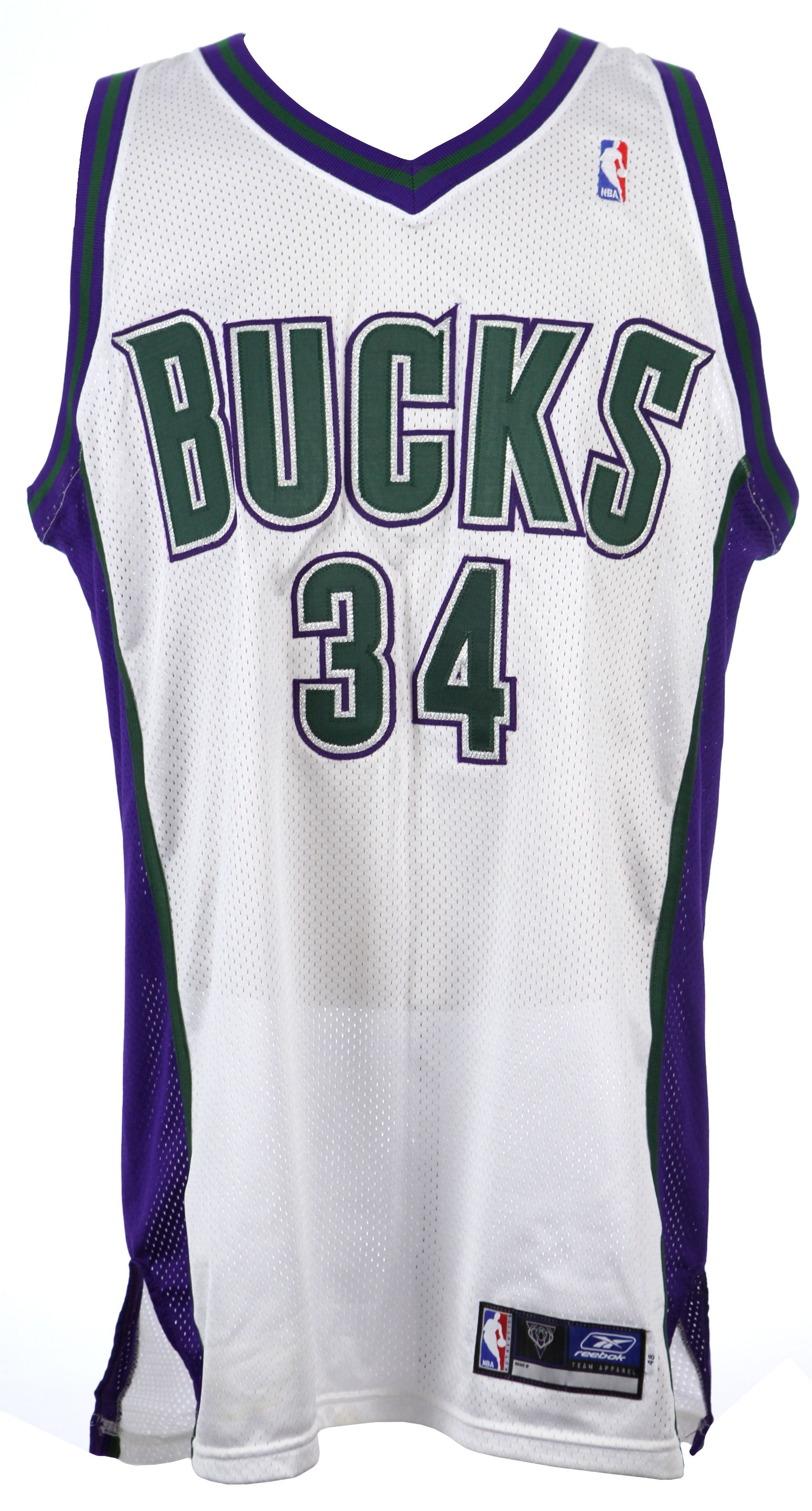 huge selection of 7561b 57ef1 Lot Detail - 1996-2002 Ray Allen Milwaukee Bucks Signed ...