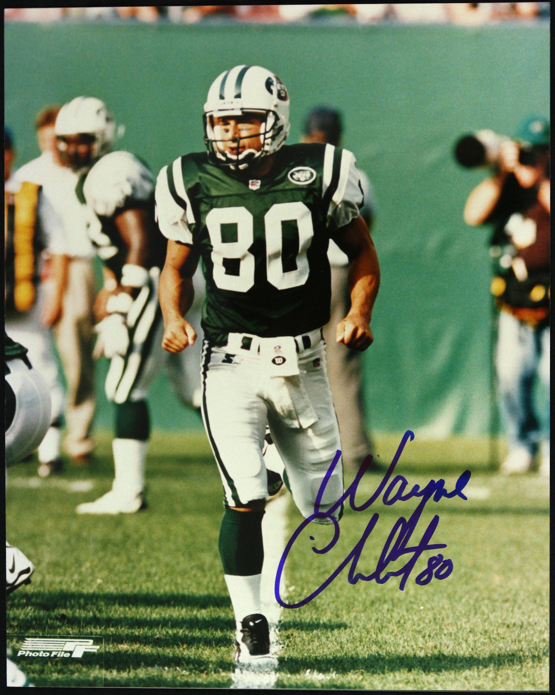 best wholesaler c3202 168b8 Lot Detail - 1995-2005 Wayne Chrebet New York Jets Signed ...