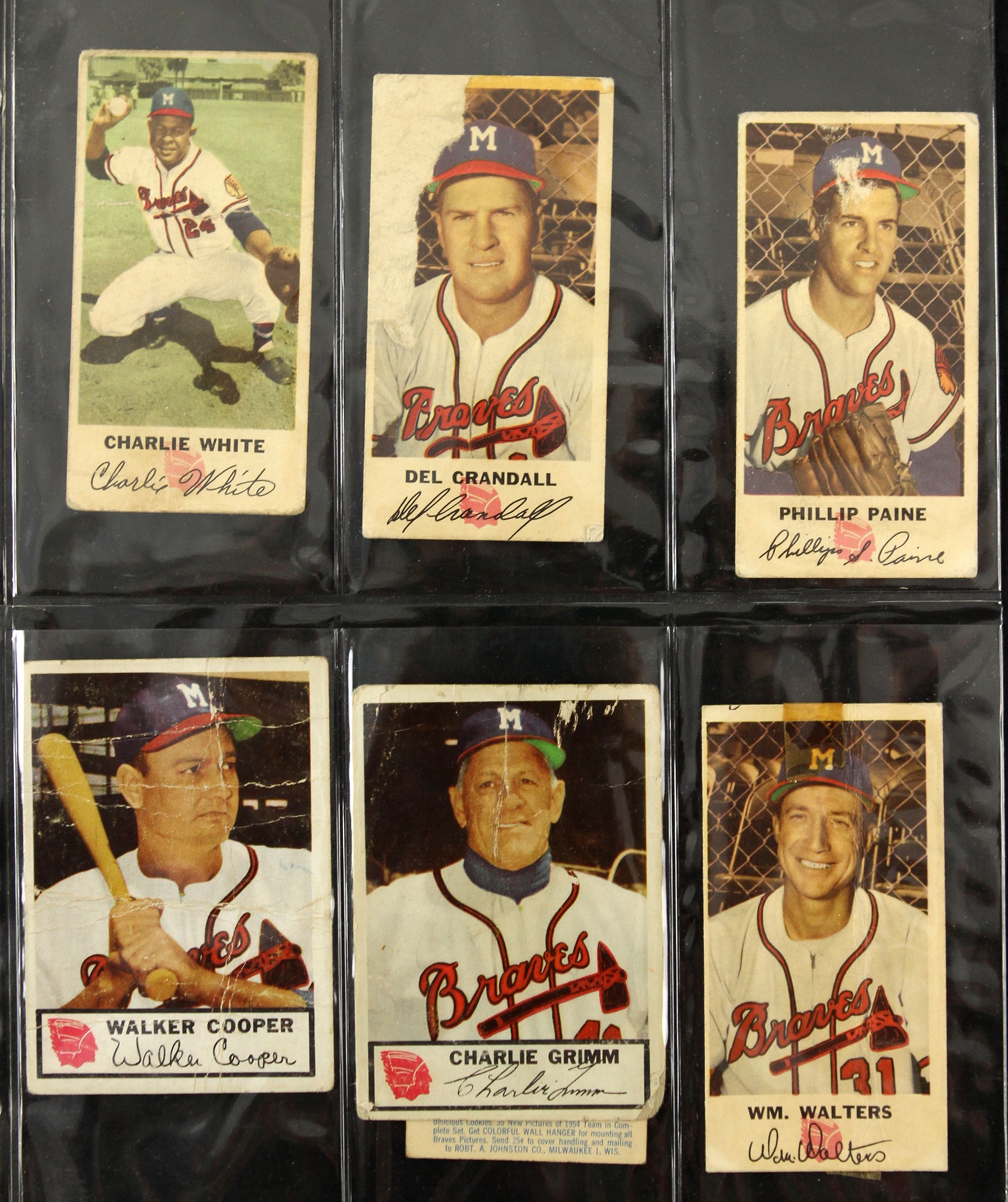 1951 83 Milwaukee Braves Baseball Card Collection W Aaron Mathews SpahnLot Of