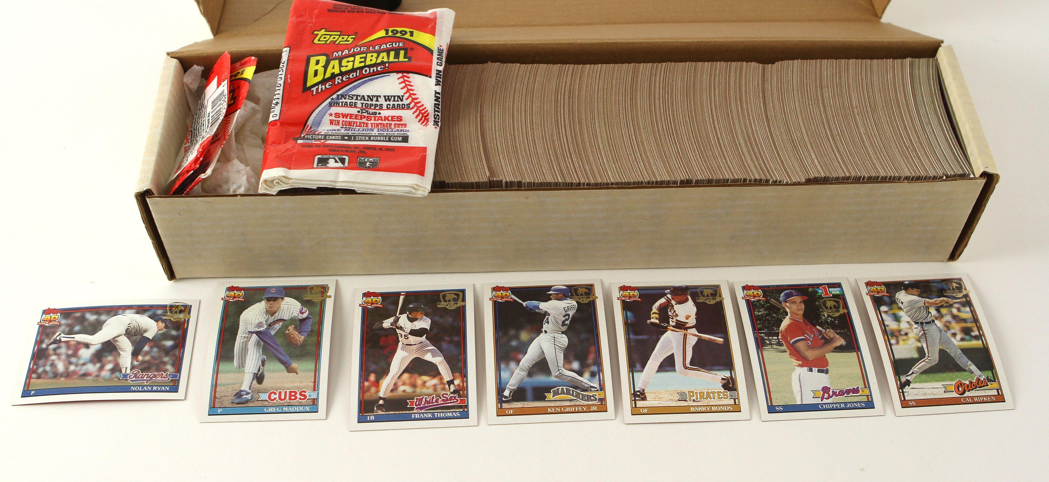 Lot Detail 1991 Topps Desert Shield Baseball Card Complete Set And