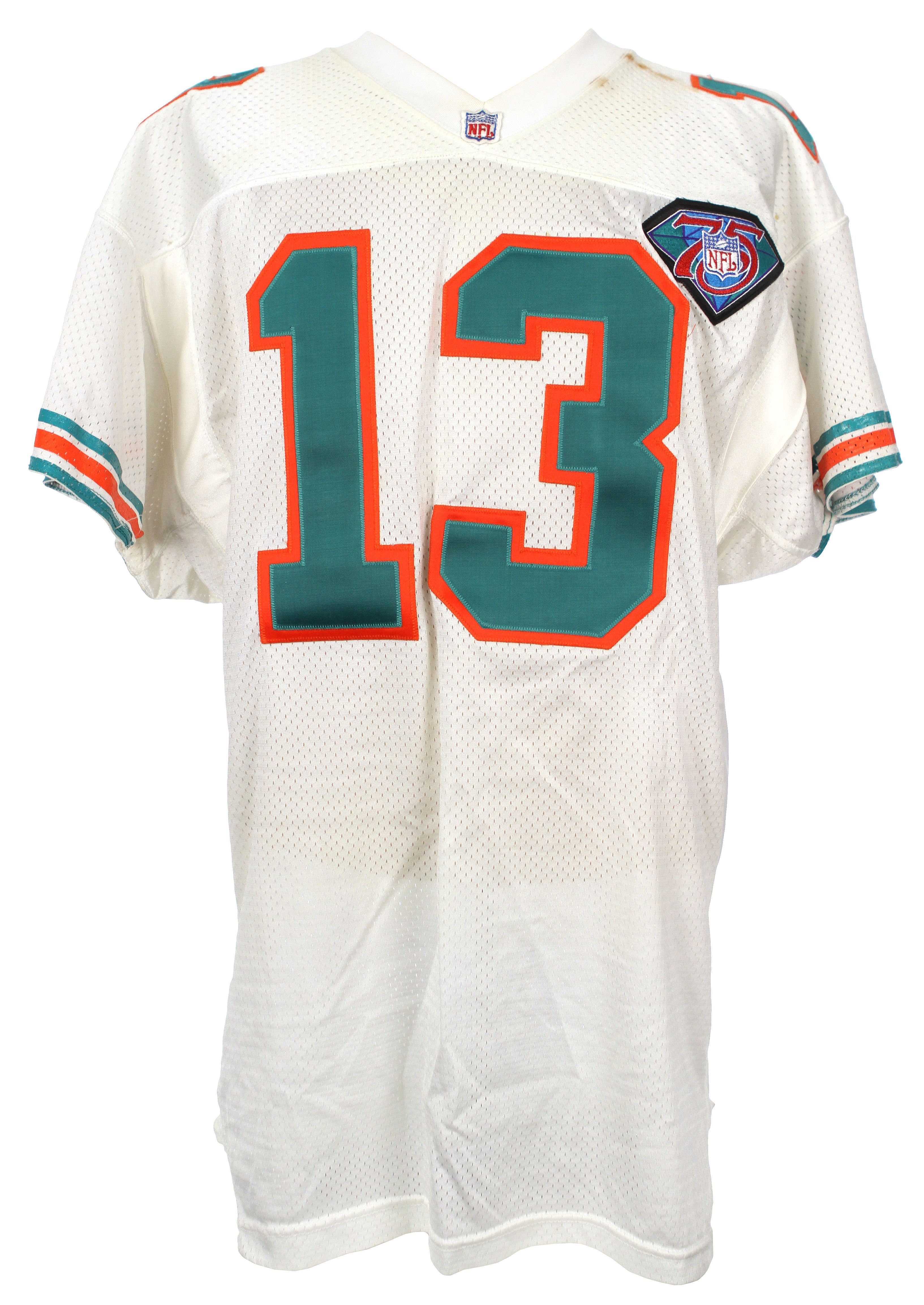 a667e1d3f3f8 Lot Detail - 1994 (October 16) Dan Marino Miami Dolphins Game Worn Home  Jersey - Worn October 16th