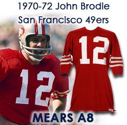 b3e933e82cd 1970-73 John Brodie San Francisco 49ers Game Worn Home Jersey (MEARS A8)