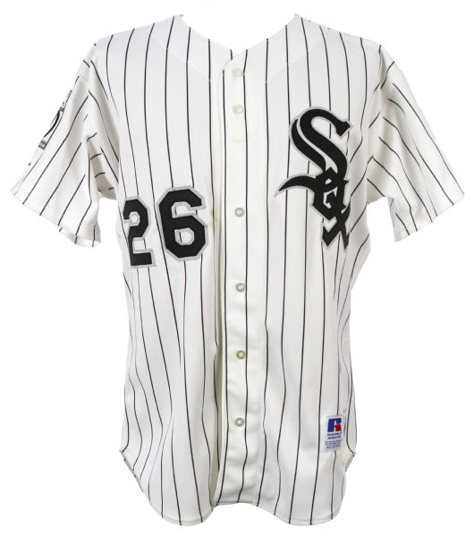 1995 Brian Keyser Chicago White Sox Game Worn Home Jersey (MEARS LOA)