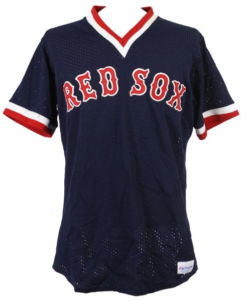 1989-91 Mike Greenwell Boston Red Sox Batting Practice Jersey (MEARS LOA)