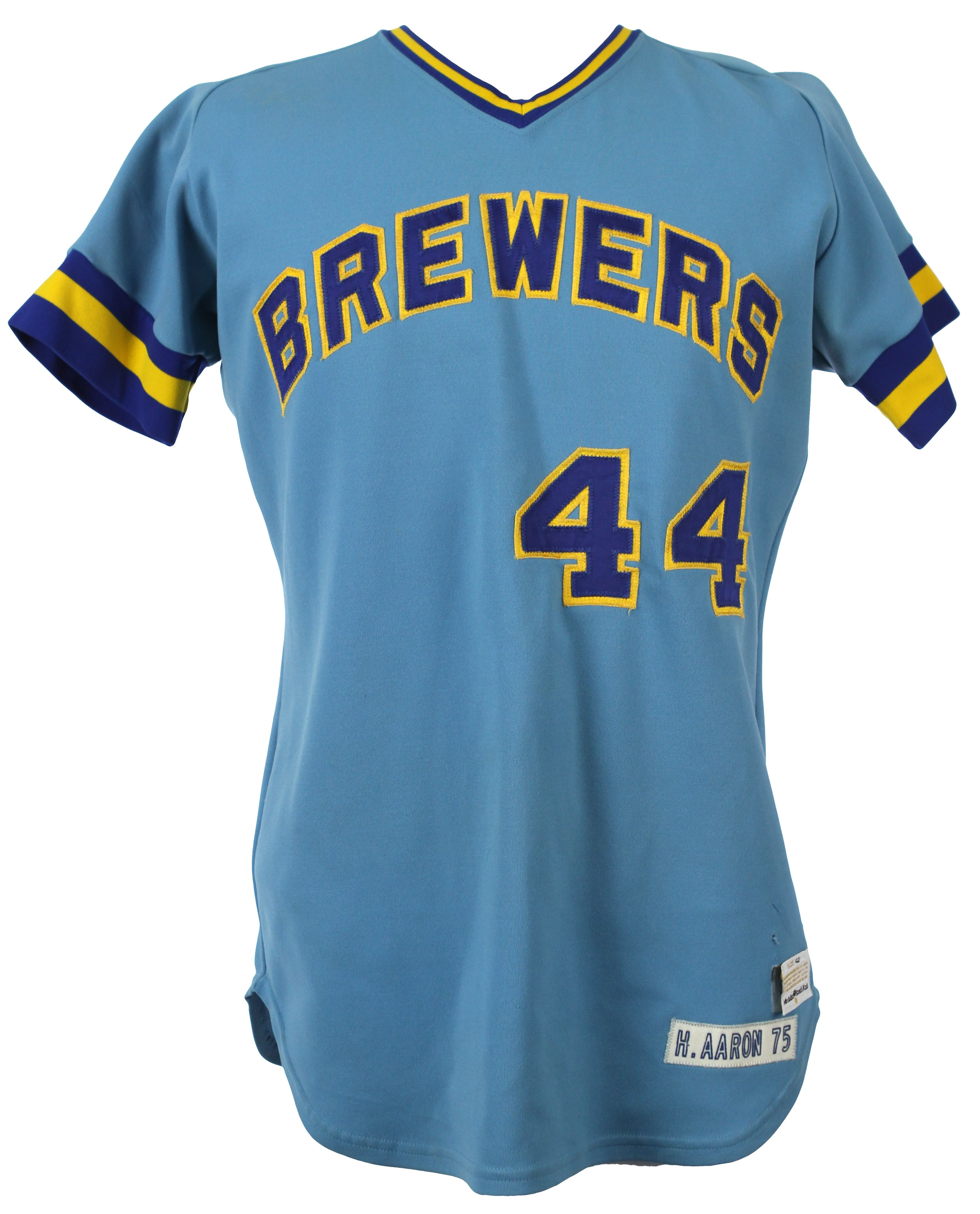 Hank Aaron Detail Jersey Milwaukee - Loa Brewers sample Lot 1975 Prototype mears bebcaadbeda|Inspirational Football Quotes From The Gridiron