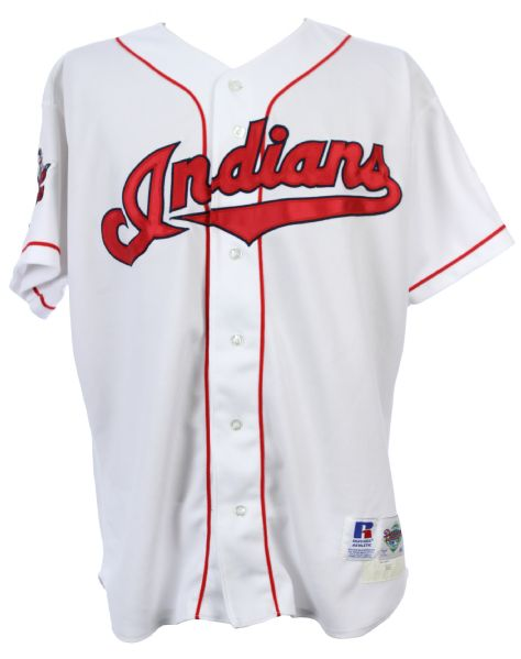 1996 Greg Swindell Cleveland Indians Game Worn Home Jersey w/ 95 Champions Patch (MEARS LOA)