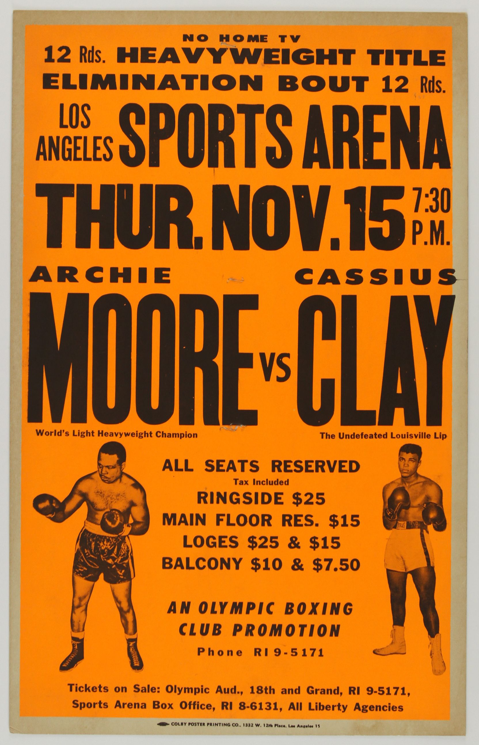 Lot Detail - 1962 Cassius Clay Archie Moore 14