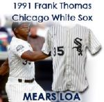 1991 Frank Thomas Chicago White Sox Signed Game Worn Home Jersey (MEARS LOA)