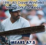 1980-83 Dave Winfield San Diego Padres/New York Yankees Signed Louisville Slugger Professional Model Game Used Bat (MEARS A7.5/JSA Full Letter)