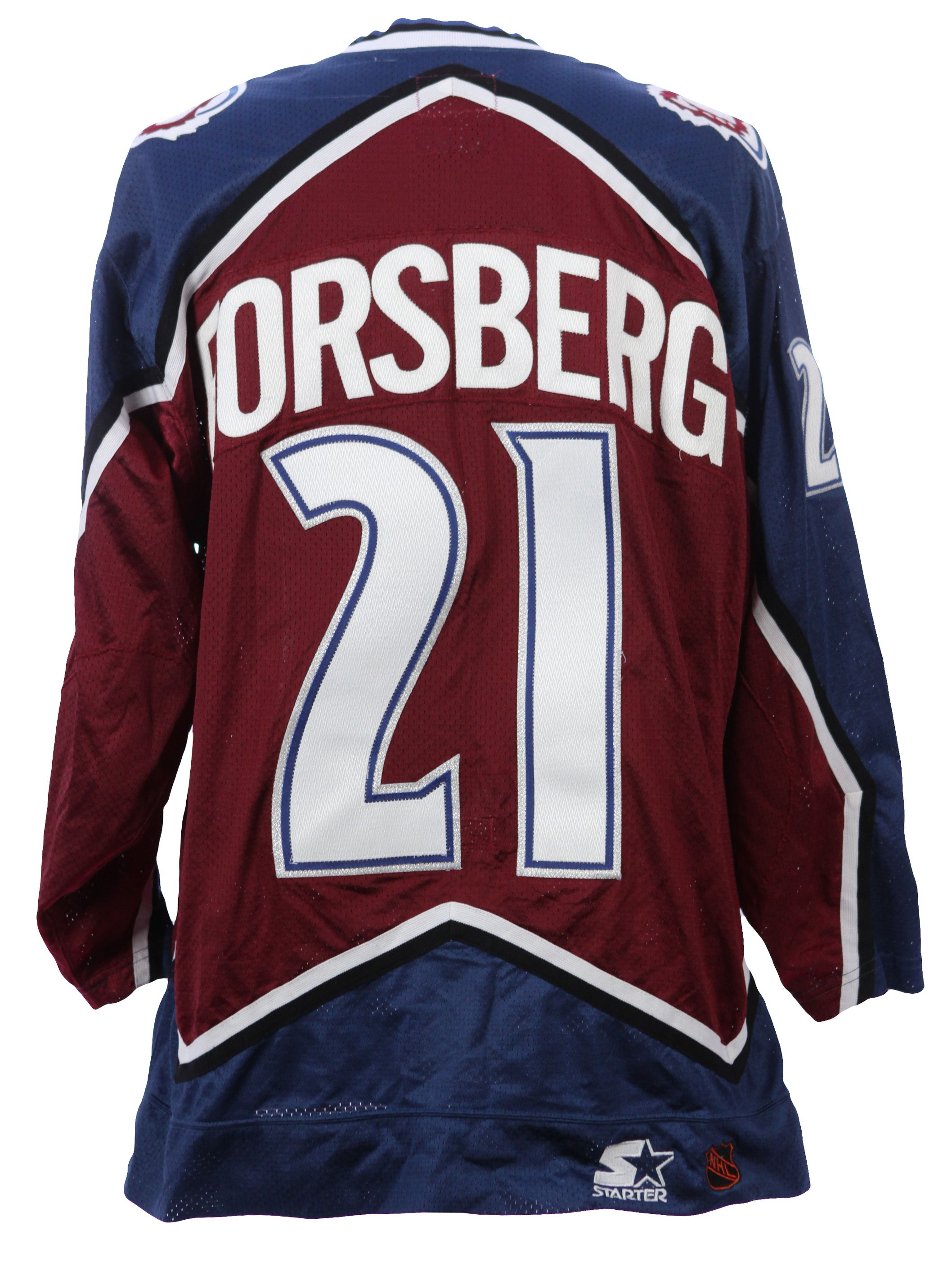 Lot Detail - 1995-97 circa Peter Forsberg Colorado Avalanche Game Worn Road  Jersey (MEARS LOA) a58131692eb