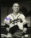 "1953-63 Earl Gillespie ""Voice of Milwaukee Braves"" Signed 8 x 10 Photo JSA Holo"