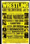 "1990s Wrestling Poster Road Warriors ""Hacksaw"" Jim Duggan Bushwackers17"" x 26"""