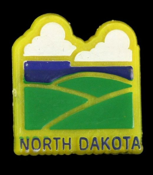 "1980s-90s North Dakota 3/4"" Pinback Button"