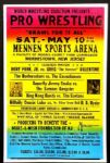 "1990s Wrestling Poster Dory Funk, Jr. vs Greg ""The Hammer"" Valentine 17"" x 26"""