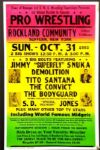"1990s Wrestling Poster Demolition Tito Santana The Convict 17"" x 26"""
