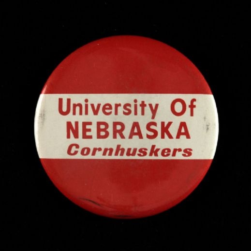 "1970s-80s University Of  Nebraska Cornhuskers  3 1/2"" Pinback Button"