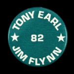 "1982 Tony Earl Jim Flynn 1 3/4"" Wisconsin Governor Pinback Button"