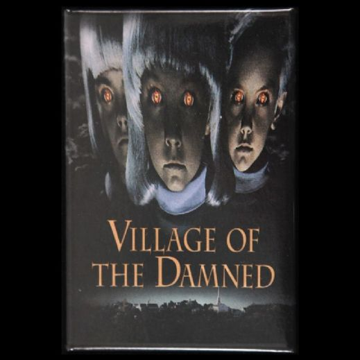 "1995 Village of the Damned Button 2 1/8"" x 3 1/8"""