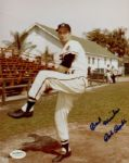 1953-62 Milwaukee Braves Bob Buhl Autographed 8x10 Color Photo JSA Hologram
