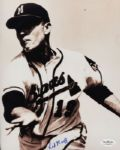 1956-57 Milwaukee Braves Red Murff Autographed 8x10 Sepia Photo (JSA)