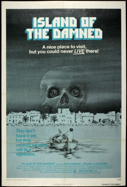 "1978 Island of the Damned One Sheet (27"" x 41"") Original Movie Poster"