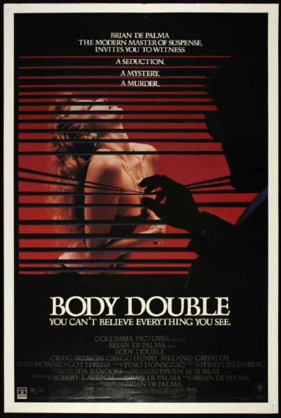 "1984 Body Double Melanie Griffith 1-Sheet (27"" x 41"") Original Movie Poster"