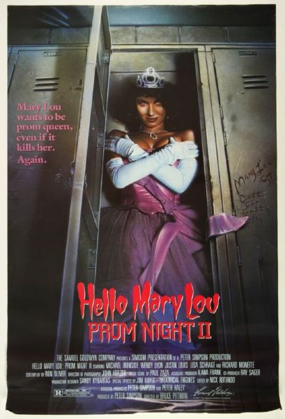 "1987 Hello Mary Lou Prom Night II 1-Sheet 27"" x 41"" Original Movie Poster"