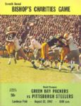 1967 Pittsburgh Steelers at Green Bay Packers Program w/ Bart Starr Cover