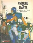 1967 Green Bay Packers vs. New York Giants w/ Fran Tarkenton Cover