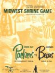 1966 Green Bay Packers vs. Chicago Bears Midwest Shrine Game Program