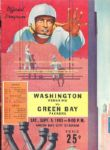 1953 Washington Redskins vs. Green Bay Packers Football Program