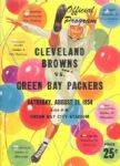 1954 Packers vs. Browns Football Program