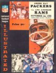 1965 Green Bay Packers vs. Los Angeles Rams Football Program