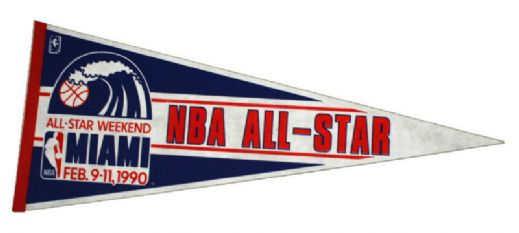 1990 NBA All Star Game Miami Full Size Pennant