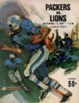 1967 Lions vs. Packers Football Program