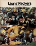 1968 Lions vs. Packers Football Program