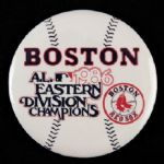 "1986 Boston Red Sox  A.L. Easter Division Champions 3 1/5"" Pinback Button"