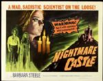 "1966 Nightmare Castle (30"" x 40"") Original Movie Poster  Mad Scientist"