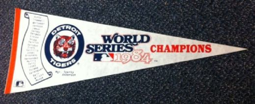 "1984 Detroit Tigers Full Size 30"" World Champions Pennant"