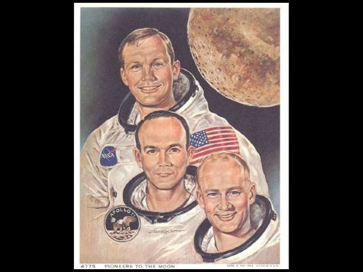 1969 Astronaut NASA Armstrong Collins Aldrin Pioneers to the Moon photo