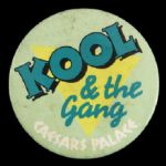 "1990s Kool & The Gang Caesars Palace 3"" Pinback Button"