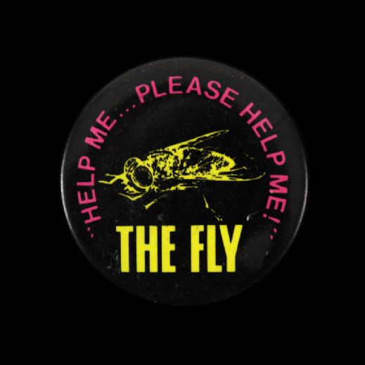 "1986 The Fly Movie 2 1/2"" Pinback Button"